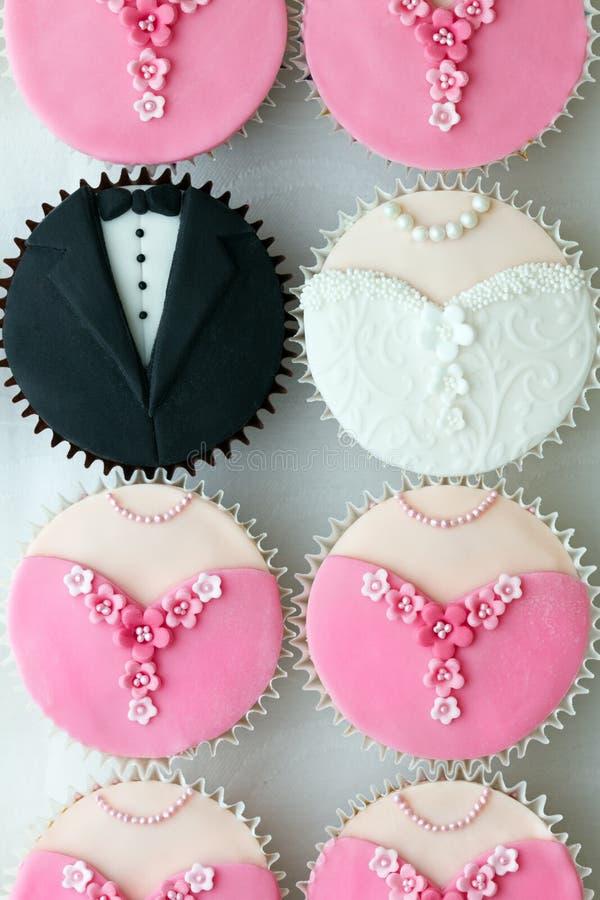 muffindeltagarebröllop arkivbilder