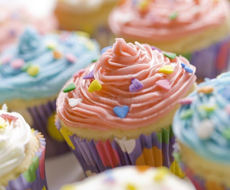 muffinefterrätt royaltyfria foton