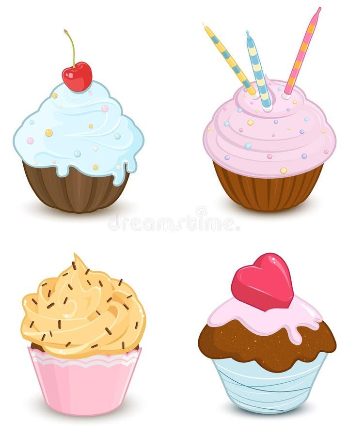 muffiner vektor illustrationer