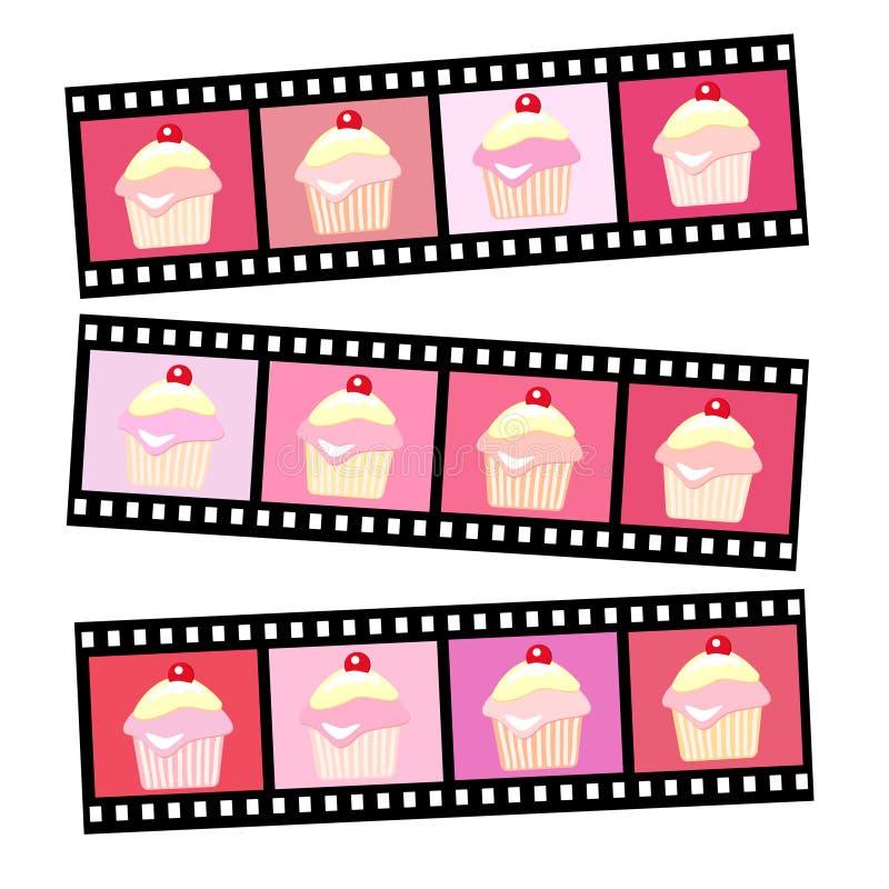 muffinfoto vektor illustrationer