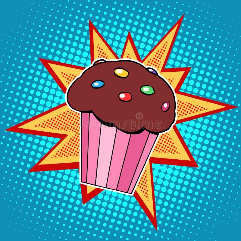 Muffinkuchen-Bonbonlebensmittel lizenzfreie abbildung
