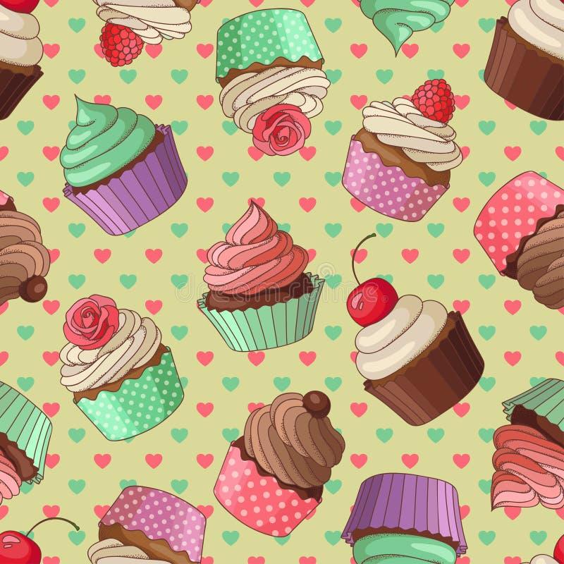 Muffinmodell, guling vektor illustrationer