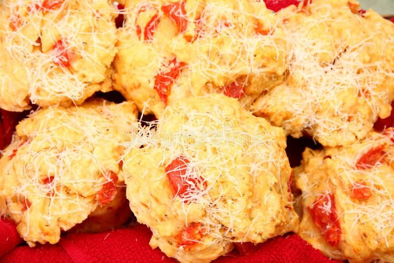 muffinpizza royaltyfri bild