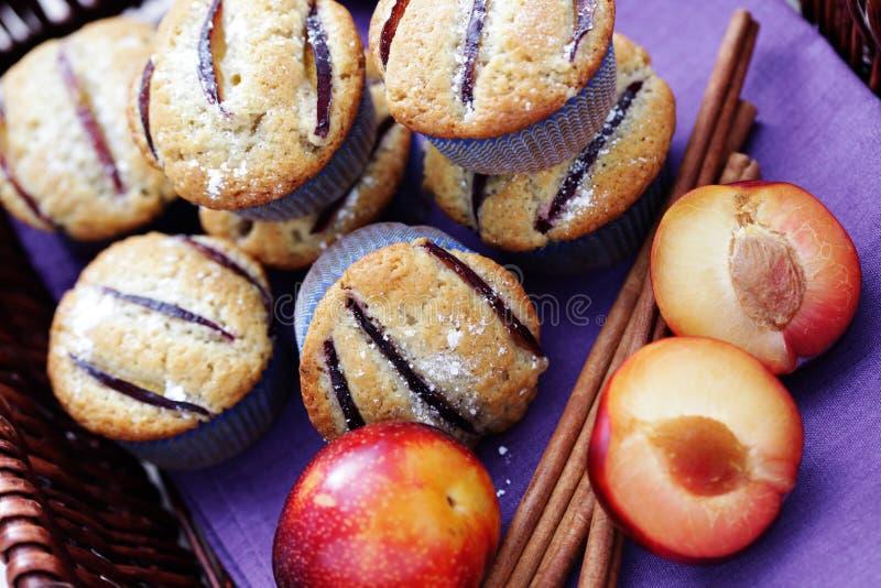 muffins śliwki fotografia stock