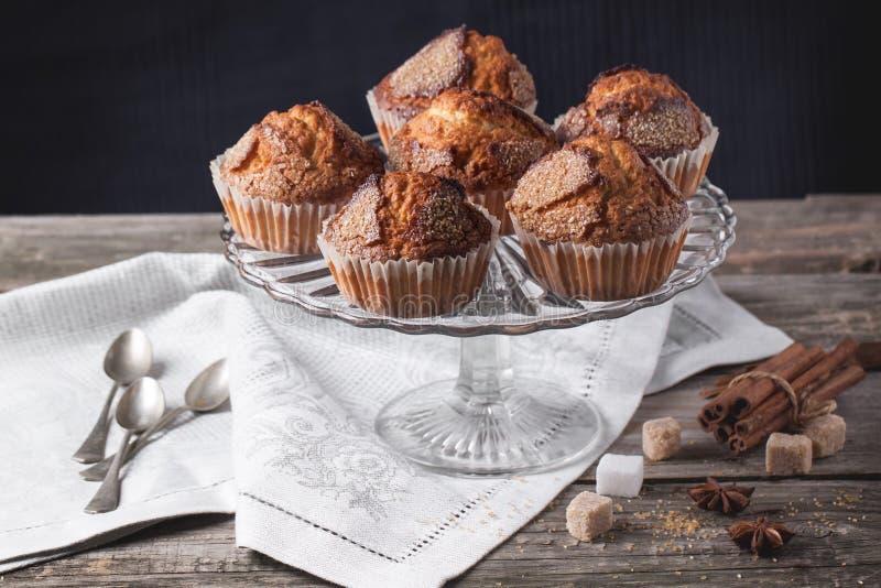 Muffins ζάχαρης με την κανέλα στοκ εικόνες με δικαίωμα ελεύθερης χρήσης