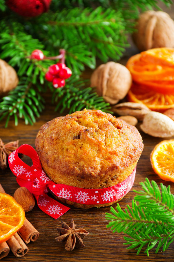 Muffins κολοκύθας και καρότων στοκ φωτογραφία με δικαίωμα ελεύθερης χρήσης