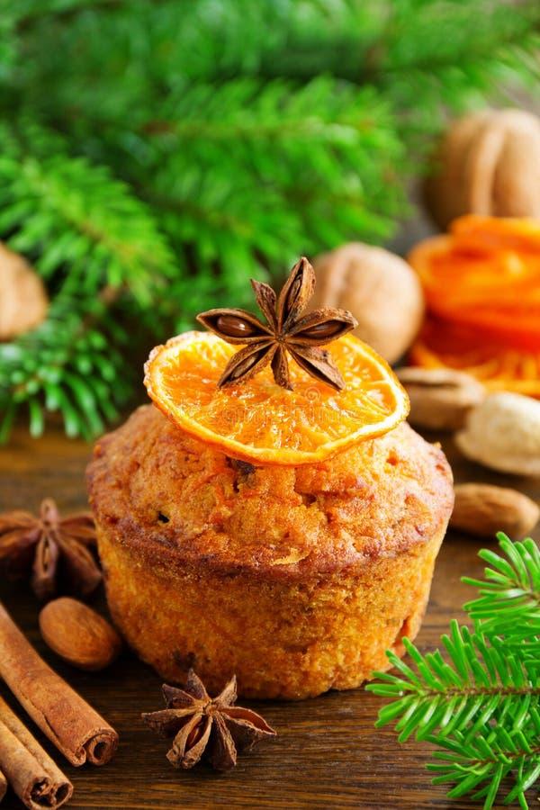 Muffins κολοκύθας και καρότων στοκ εικόνα