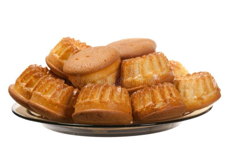 muffins πιάτο στοκ φωτογραφία