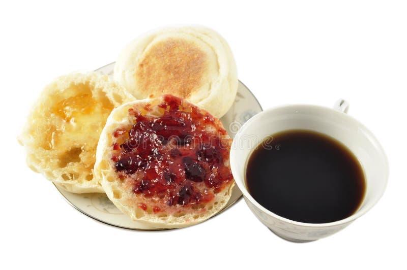 muffins της Αγγλίας καφέ στοκ φωτογραφίες με δικαίωμα ελεύθερης χρήσης