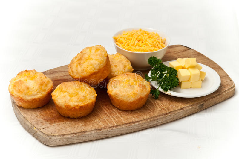 muffins τυριών τυριού Cheddar στοκ εικόνα με δικαίωμα ελεύθερης χρήσης