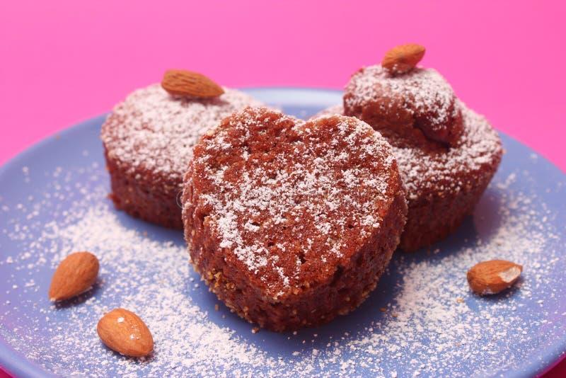 Download Muffins zdjęcie stock. Obraz złożonej z heart, przekąska - 35696640