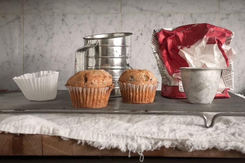 Muffins stock fotografie