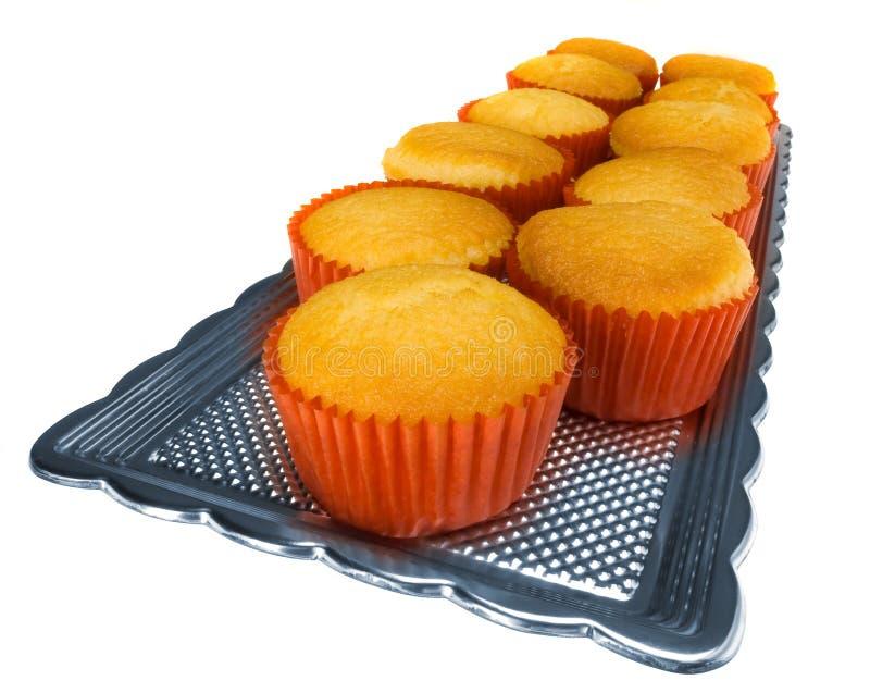 Muffins auf Weiß II stockfotos
