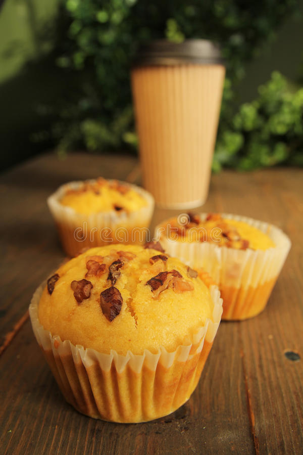 Download Muffins and coffee to go stock image. Image of orange - 27793589