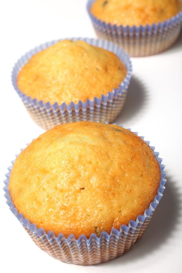 Muffins getrennt auf Weiß stockbilder