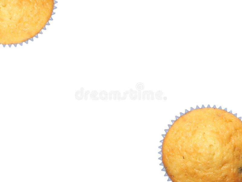 Muffins getrennt auf Weiß stockfoto