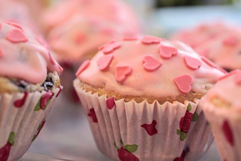 muffins kierowe menchie fotografia stock