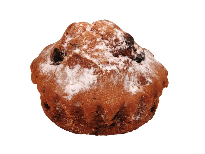 Muffins met rozijnen stock fotografie