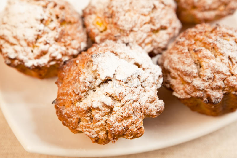 Muffins on a plate stock image