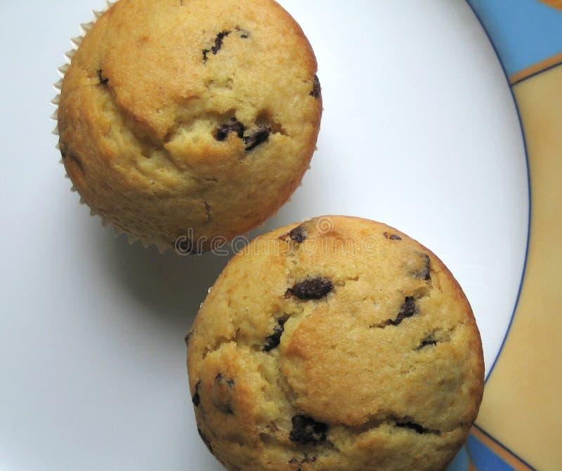 Muffins - Platte lizenzfreie stockfotografie