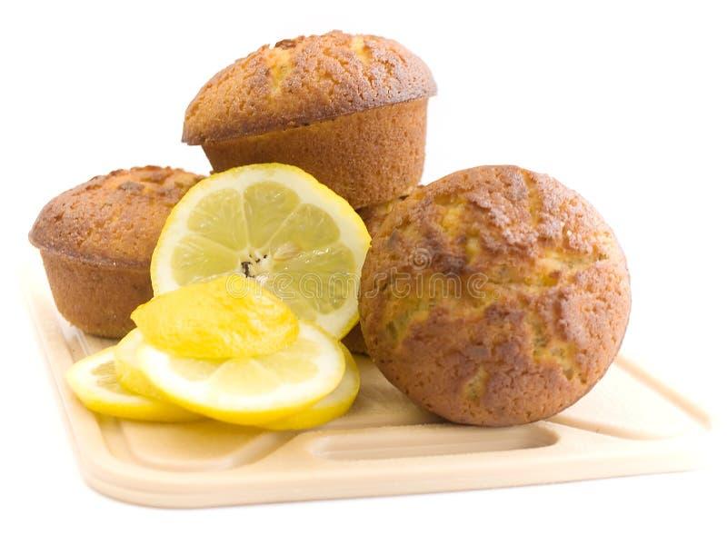 Muffins z cytryną obraz stock