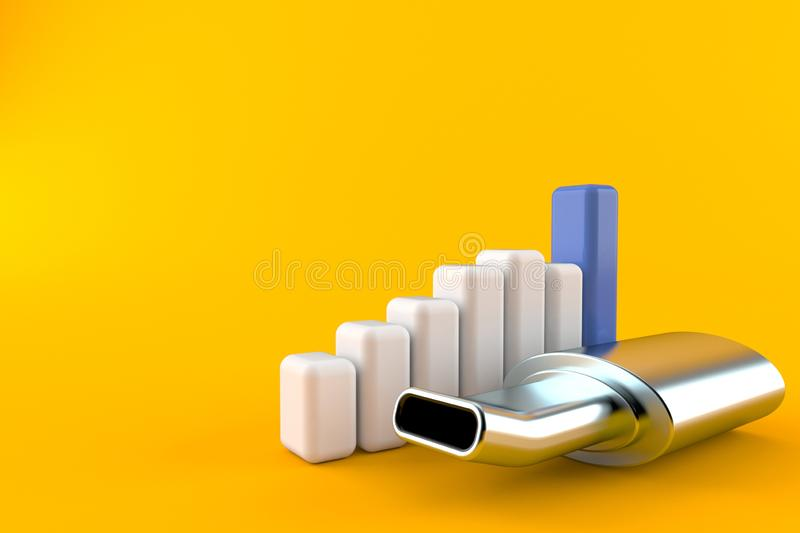 Muffler with chart royalty free illustration