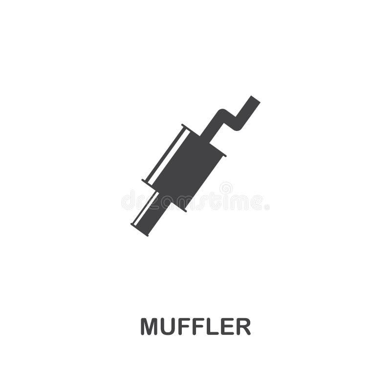 Muffler kreatywnie ikona Prosta element ilustracja Muffler pojęcia symbolu projekt od samochodu rozdziela kolekcję Może używać dl royalty ilustracja