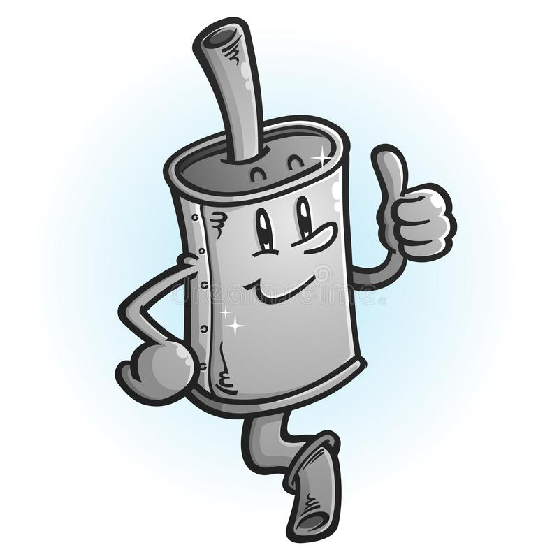 Muffler kreskówki maskotki Dawać aprobaty ilustracji