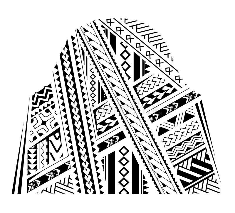 Mufftatueringprydnad royaltyfri illustrationer