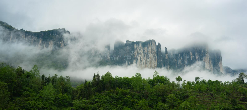 Mufu Grote canion in Enshi Hubei China royalty-vrije stock foto