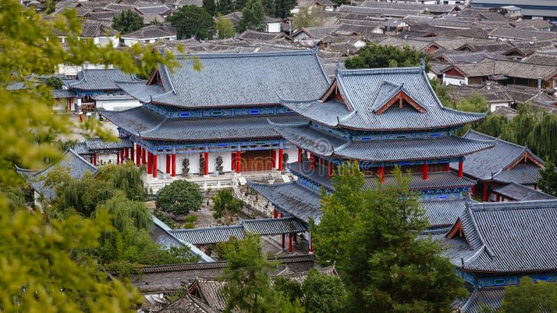Mufupaleis in de Oude Stad van Lijiang stock foto's