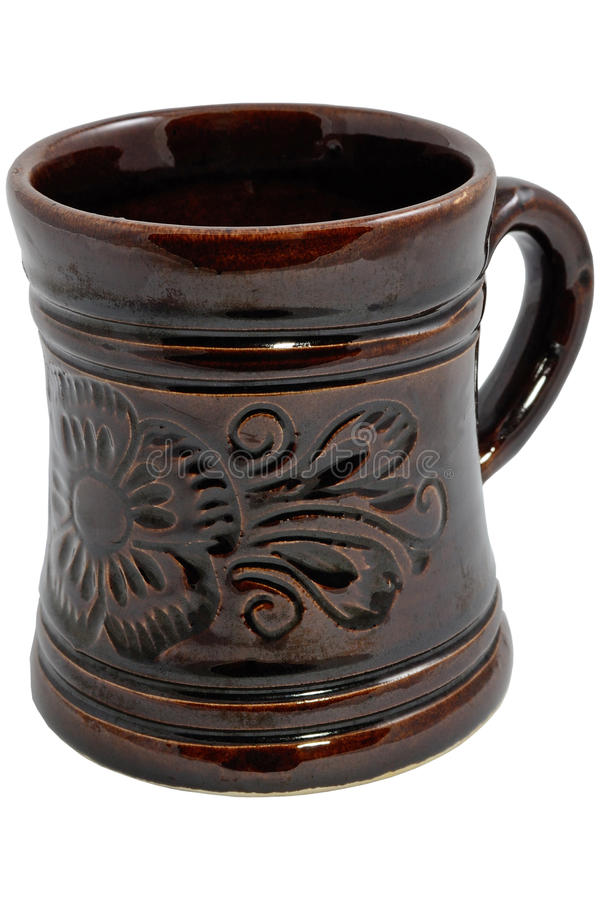 Download Mug stock photo. Image of decor, brown, ceramics, craft - 20637704