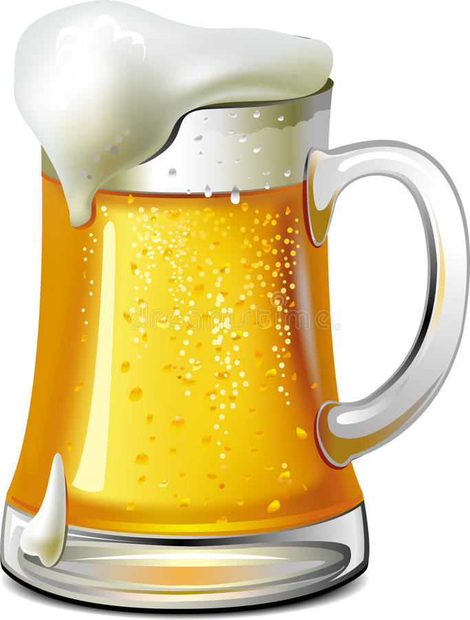 Mug of beer stock illustration