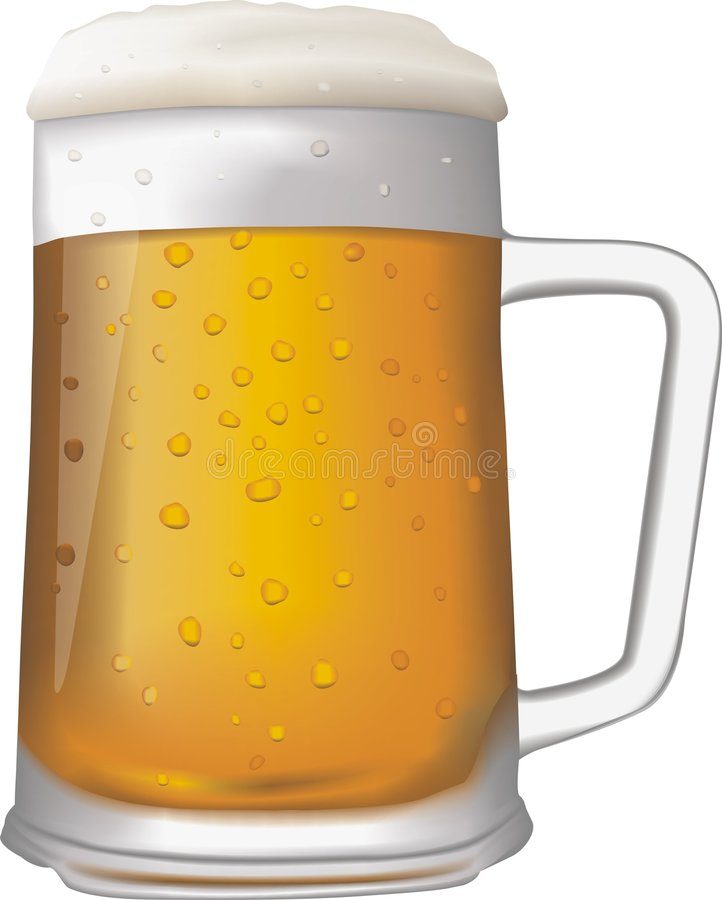 Mug of Beer. Isolated on a white background. Digital illustration