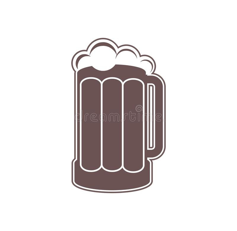 Mug of beer isolated on a white background. Digital illustration. vector illustration