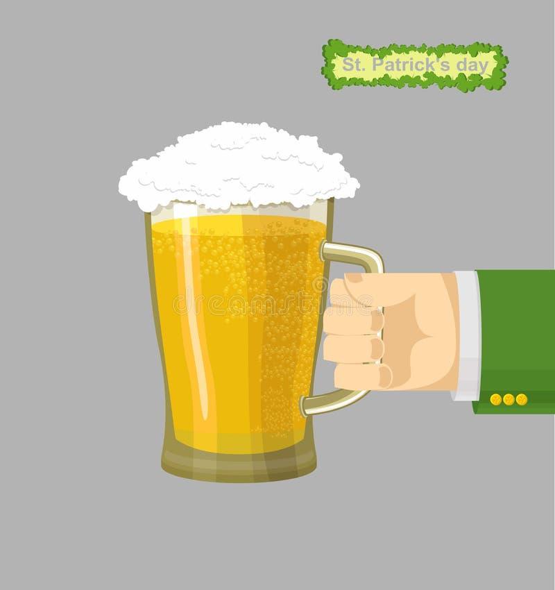 Mug beer. Patricks Day stock illustration