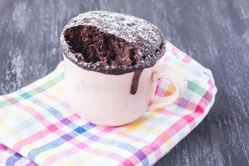 Mug chocolate cake stock photo