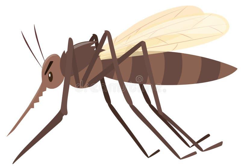 Mug die op witte achtergrond vliegen stock illustratie
