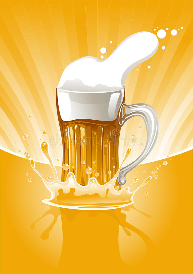Download Mug fresh beer stock vector. Illustration of single, cold - 15357066