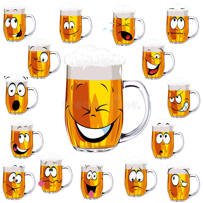 Download Mug fresh beer cartoon stock vector. Image of cool, isolated - 26879393