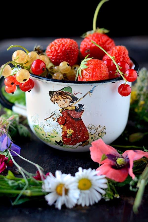 Download Mug With Fresh Berries Stock Photo - Image: 43516831