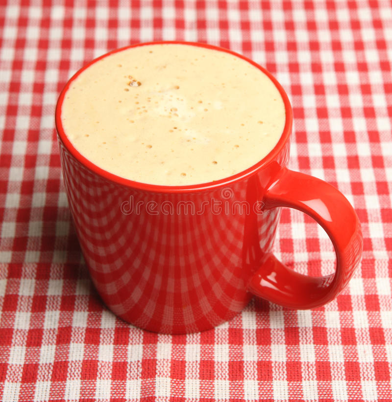 Download Mug of Frothy Coffee stock photo. Image of cappuccino - 33630176