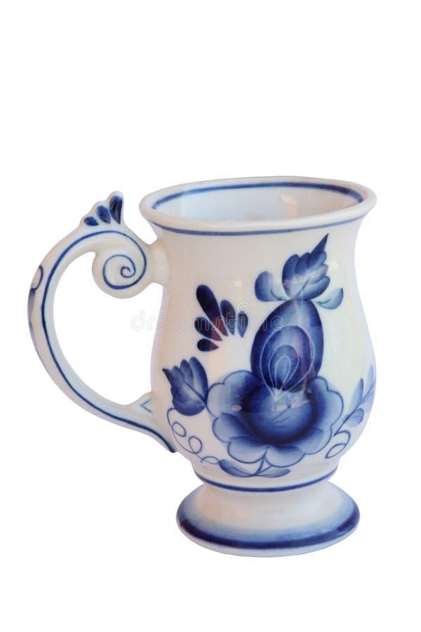 Mug gzhel stock images