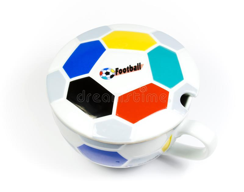 The mug ornamented under a ball