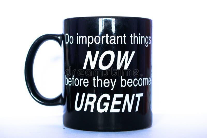 Mug and quotes royalty free stock image