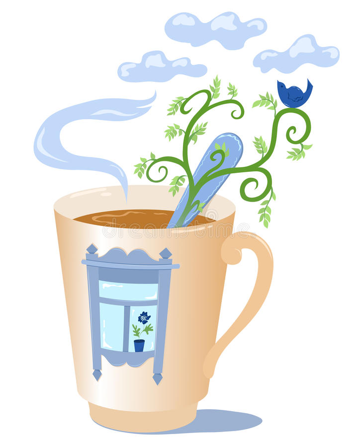 Download Mug with a window. stock vector. Image of illustration - 19349023