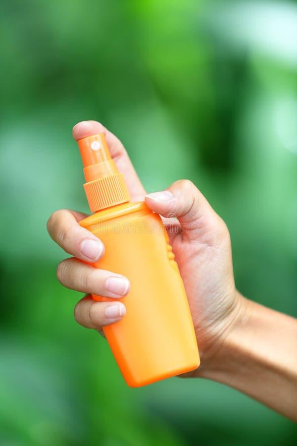 Mugafweermiddel - insektenwerende middelen stock afbeeldingen