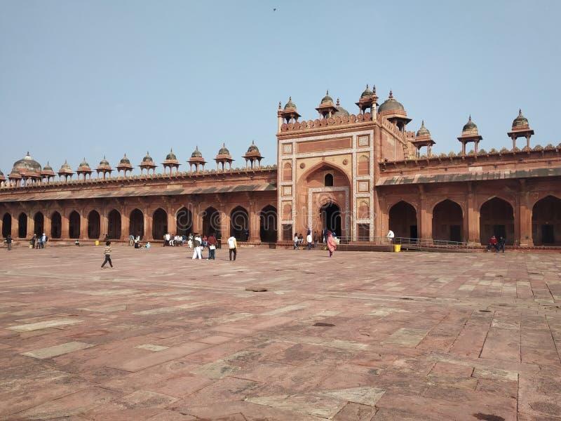 Mugal-Monument in Indien, fatehpur sikri Agra stockfotografie