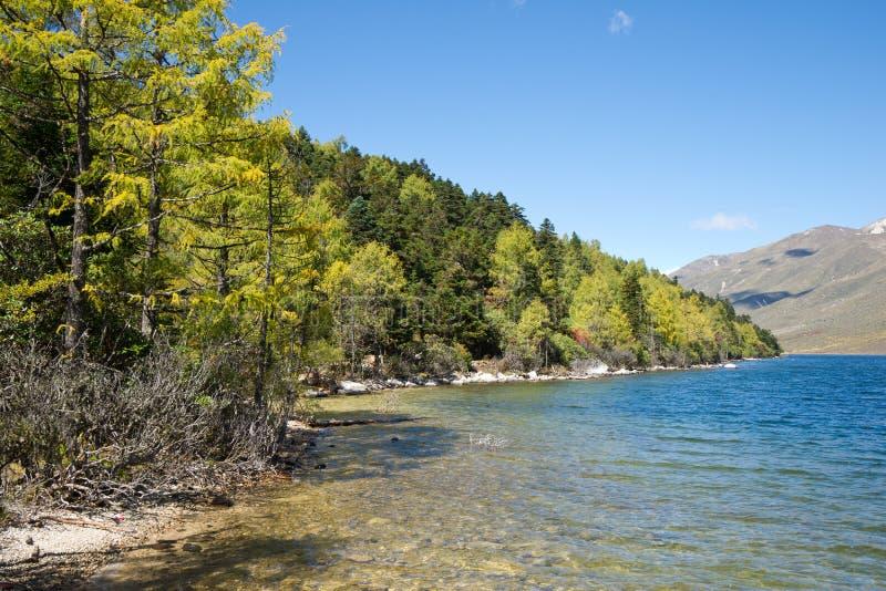 Download Mugecuo Lake Stock Image - Image: 21636931