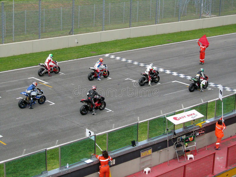 Mugello Circuit. Circuit Mugello - Manifestazione Motociclistiche Coppa Italia di Motociclismo - 01 Premier National Cup 2010 23-25 aprile 2010 - Trofeo Super stock photography